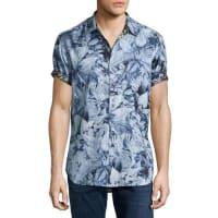 Robert GrahamMasoor Leaf-Print Short-Sleeve Sport Shirt