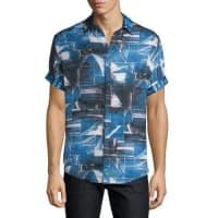 Robert GrahamRocky Island Multi-Printed Silk/Cotton Sport Shirt, Indigo