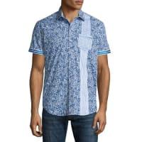 Robert GrahamRosy Boa Multi-Print Short-Sleeve Shirt, Cobalt