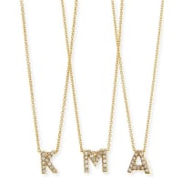 Roberto Coin18k Yellow Gold Diamond Love Letter Necklace