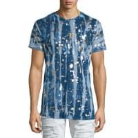Robin's JeansGold Paint-Splatter Printed Short-Sleeve T-Shirt, Silver