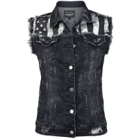 Rock Rebel by EMPJeans Waistcoat Girl-Weste schwarz