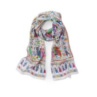 RoecklSjaal van 100% zijde Van Roeckl multicolour