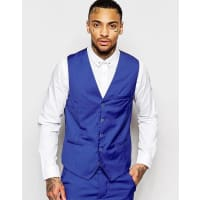 Rogues of LondonWaistcoat in Skinny Fit - Blue