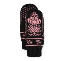 Rosie SugdenCashmere Floral Norwegian Mittens, Black
