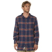 RustyBurn Ls Mens Flannel Shirt Blue