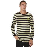 RustyMinions Striped Long Sleeve Tee Yellow