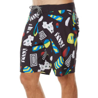 RvcaNumskull Mens Boardshort Black