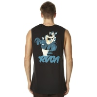 RvcaThumb Cat Mens Muscle Black