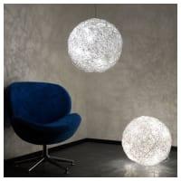 S.Luces.LUCE Stehlampe »Mesh LED Drahtkugel Ø 50 cm Silberfarben«, silberfarben, Silber
