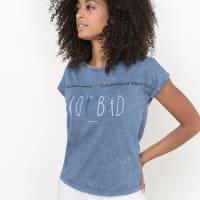 s.OliverBedrukt T-shirt met ronde hals