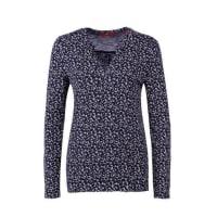 s.Oliver Red LabelTunika-Shirt aus Flammgarnjersey blau