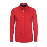 s.OliverÜbergröße: S. Oliver, Casualhemd mit Button-Down-Kragen in Rot für Herren
