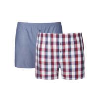s.OliverÜbergröße: S. Oliver, Doppelpack Boxershort aus Baumwollpopeline in Rot-blau für Herren