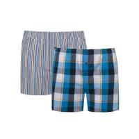 s.OliverÜbergröße: S. Oliver, Doppelpack Boxershorts,Karo + Streifen in Blau für Herren