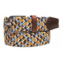 SaddlerWoven Belt Multi Blue