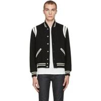 Saint LaurentBlack Teddy Bomber Jacket