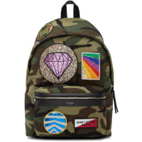Saint LaurentCamo Backpack With Pouches