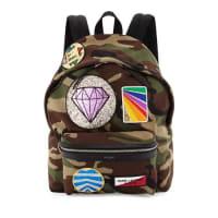 Saint LaurentCamouflage Gemstone Patch Backpack, Multi