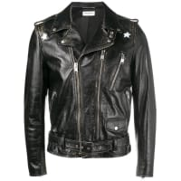 Saint Laurentdistressed biker jacket