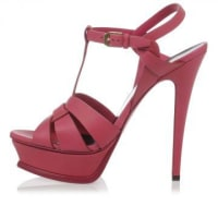 Saint LaurentLeather Sandal with Plateau Herbst/Winter