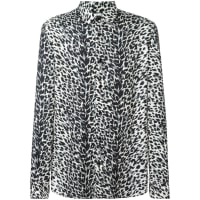 Saint LaurentLeopard-Print Cotton Shirt