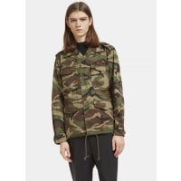 Saint LaurentLove Force Camouflage Military Jacket