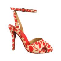 Saint LaurentSize 6 Red Lip Print Ankle Strap Eva Sandals