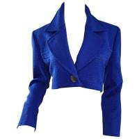 Saint LaurentVintage Yves Saint Laurent Rive Gauche Electric Royal Blue Cropped Bolero Jacket