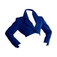 Saint LaurentYsl Rive Gauche Royal Blue Cropped Blazer Bolero