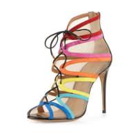 Salvatore FerragamoAmber Suede Lace-Up Sandal, Bluette
