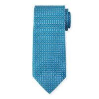 Salvatore FerragamoGancini with Diamond Silk Tie, Teal