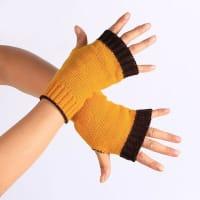 SammydressDobles guantes sin dedos de punto de color