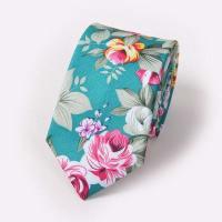 SammydressElegante de la flor y la hoja Pintura 6cm Ancho Tie