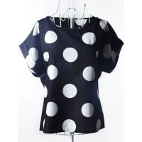SammydressElegante del lunar de Ajuste Holgado blusa de la gasa para las mujeres