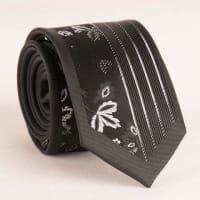 SammydressCon estilo de la hoja y la raya vertical Jacquard Negro corbata para los hombres