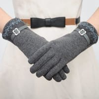 SammydressPar de Chic Encaje y la hebilla del Rhinestone Embellished guantes para las mujeres