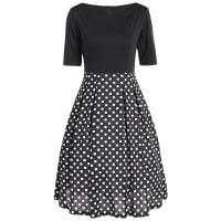 SammydressTalle alto-lunar del vestido que empalma la vendimia