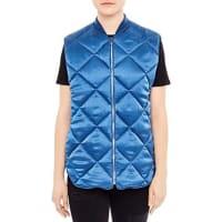 SandroAdela Quilted Silk Vest