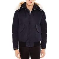 SandroCanada Fur Trim Hooded Jacket