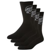 Santa CruzMono Cruz Sock 4 Pack Black
