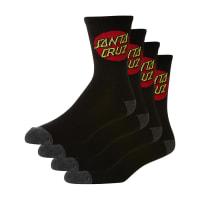 Santa CruzCruz Sock 4 Pack Black