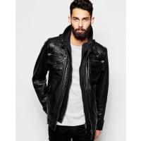 Schott NYCLeather Jacket with Hoodie Insert - Black