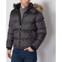 Schott NYCQuiltet jakke med syntetpels