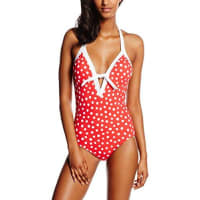 SeafollySpot On, Maillot Une Pièce Femme, Rouge (Chilli Red), FR: 40 (Taille Fabricant: 12)