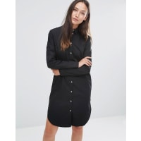 SelectedFally Long Sleeve Shirt Dress - Black