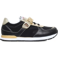 MoschinoLogo Leather Trainers 7-12 Years, Girls, EUR 35 / 2.5 UK ADULT, Black