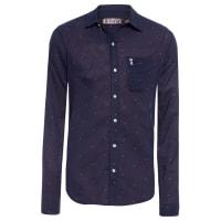 Sergio K.Camisa Masculina Print Mini Ancor - Azul