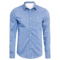 Sergio K.Camisa Masculina Print Roses - Azul