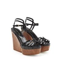 Sergio RossiPlateau-Wedge-Sandalen aus Leder